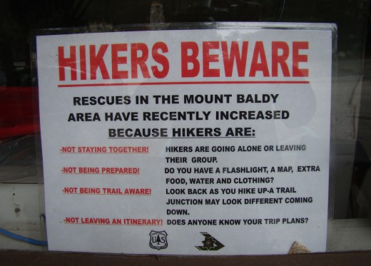 Warning for Hikers
